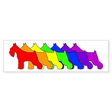 Rainbow Schnauzer Bumper Bumper Sticker
