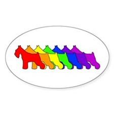 Rainbow Schnauzer Oval Decal