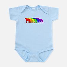 Rainbow Deerhound Infant Bodysuit