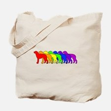 Rainbow Deerhound Tote Bag