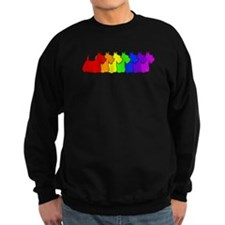 Rainbow Scottie Sweatshirt