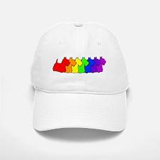 Rainbow Scottie Baseball Baseball Cap