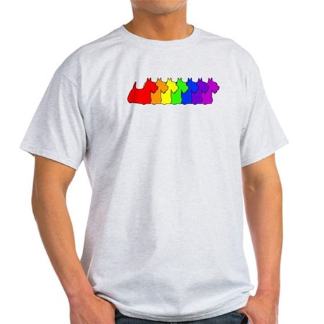 Rainbow Scottie Light T-Shirt