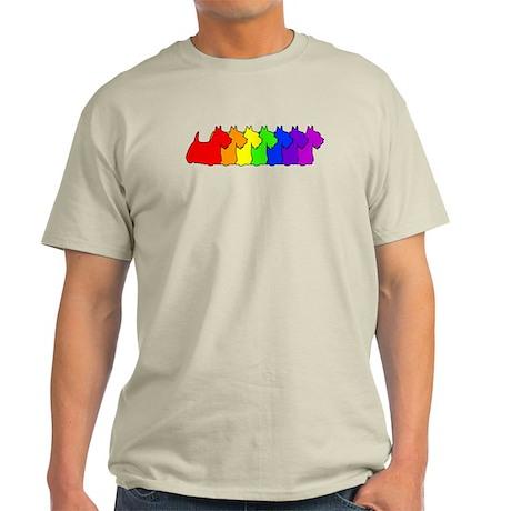 Rainbow Scottie Light T-Shirt