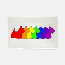 Rainbow Scottie Rectangle Magnet