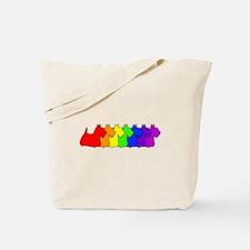 Rainbow Scottie Tote Bag