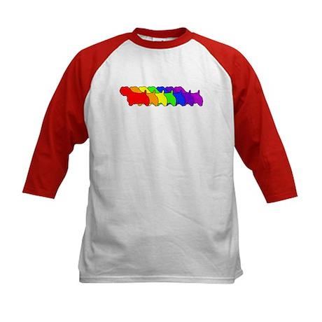 Rainbow Sealyham Kids Baseball Jersey