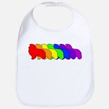 Rainbow Sheltie Bib