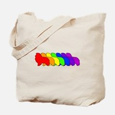 Rainbow Sheltie Tote Bag