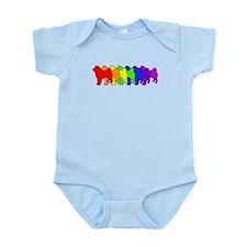 Rainbow Shiba Inu Infant Bodysuit
