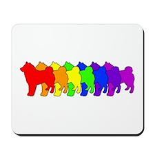 Rainbow Shiba Inu Mousepad