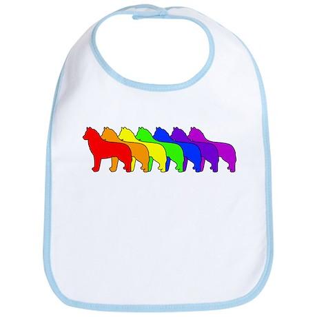 Rainbow Husky Bib