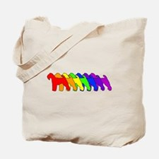 Rainbow Welshie Tote Bag