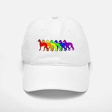 Rainbow Whippet Baseball Baseball Cap