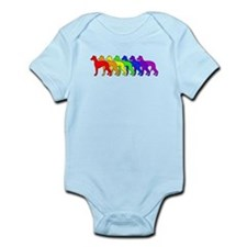Rainbow Whippet Infant Bodysuit