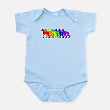 Rainbow Whippet Infant Bodysuit