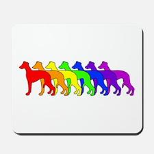 Rainbow Whippet Mousepad