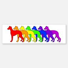 Rainbow Whippet Bumper Bumper Bumper Sticker