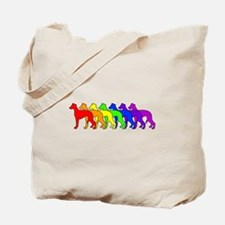 Rainbow Whippet Tote Bag