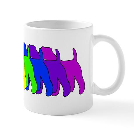 Rainbow Wire Fox Mug