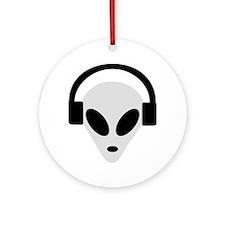DJ Alien Ornament (Round)