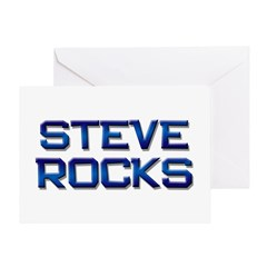 steve rocks Greeting Card