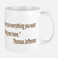 Jefferson quote Mug
