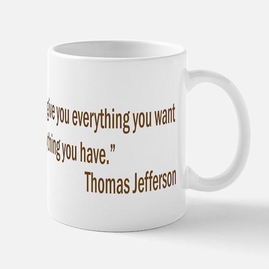 Jefferson quote Mug