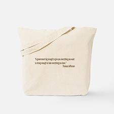 Jefferson quote Tote Bag