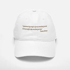 Jefferson quote Baseball Baseball Cap