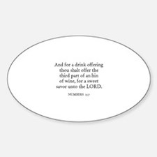 NUMBERS 15:7 Oval Decal