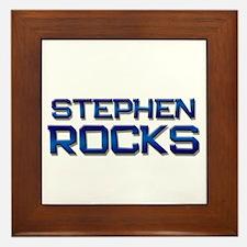 stephen rocks Framed Tile