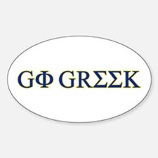 Go Greek Oval Decal