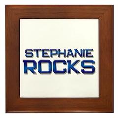 stephanie rocks Framed Tile