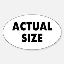 Actual Size Decal