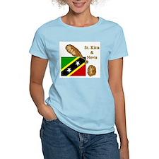 St. Kitts & Nevis Women's Pink T-Shirt