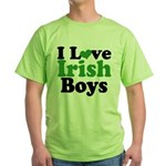 I Love Irish Boys Green T-Shirt