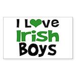 I Love Irish Boys Rectangle Sticker