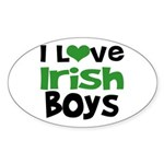 I Love Irish Boys Oval Sticker