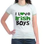 I Love Irish Boys Jr. Ringer T-Shirt