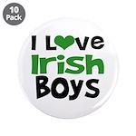 "I Love Irish Boys 3.5"" Button (10 pack)"
