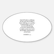 NUMBERS 15:3 Oval Decal