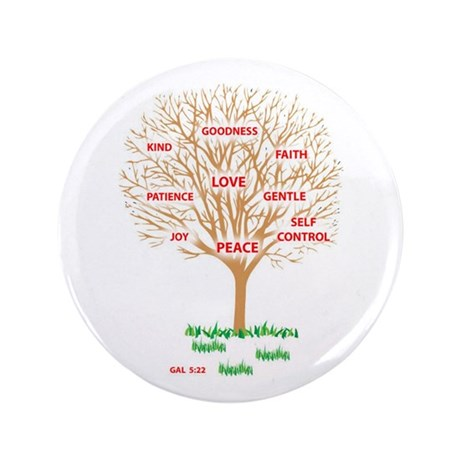 "Fruit of the SPIRIT - 3.5"" Button"
