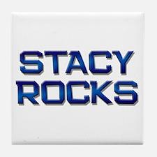 stacy rocks Tile Coaster