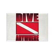 Dive Anywhere Everywhere Flag Rectangle Magnet