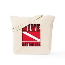 Dive Anywhere Everywhere Flag Tote Bag