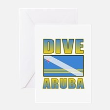 Scuba Dive Aruba Greeting Card