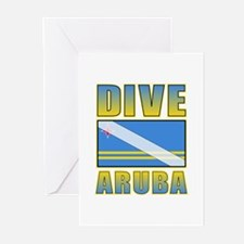Scuba Dive Aruba Greeting Cards (Pk of 20)