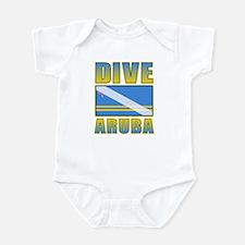 Scuba Dive Aruba Infant Bodysuit