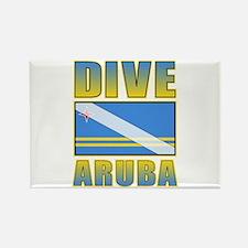 Scuba Dive Aruba Rectangle Magnet